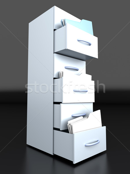 Filing Cabinet	 Stock photo © Spectral