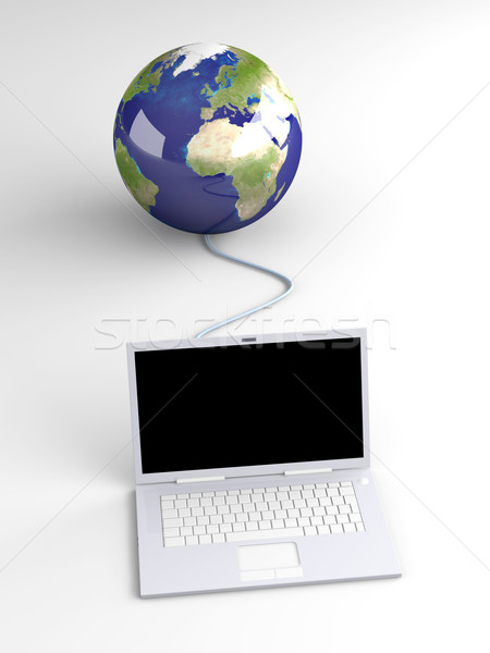 Stock foto: Welt · 3D · gerendert · Illustration · Ethernet · Internet