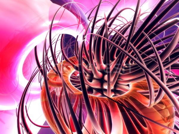 Yüksek 3D render soyut bilgisayar dijital Stok fotoğraf © Spectral