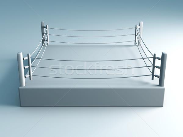 Boxing anello 3D reso illustrazione formazione Foto d'archivio © Spectral