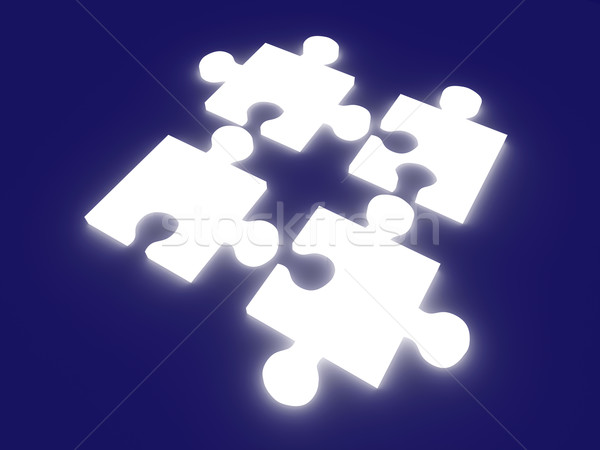 Glowing Puzzle Solution Stock photo © Spectral