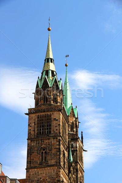 Toren kathedraal gebouw stad deur Stockfoto © Spectral