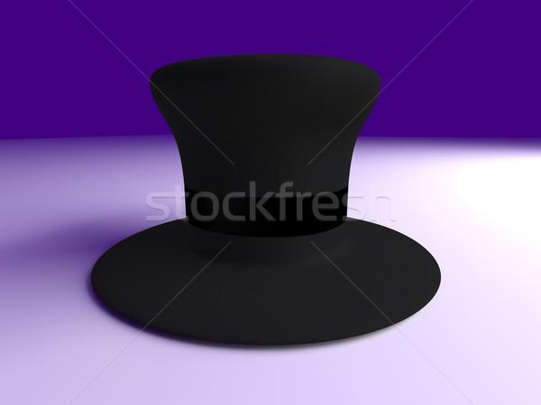 Cilindro Hat classico 3D reso illustrazione Foto d'archivio © Spectral