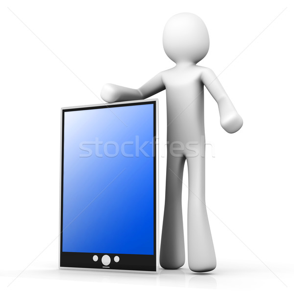 Holding a Tablet PC Stock photo © Spectral