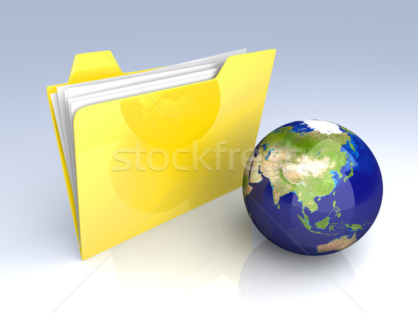 Global Folder - Asia Stock photo © Spectral
