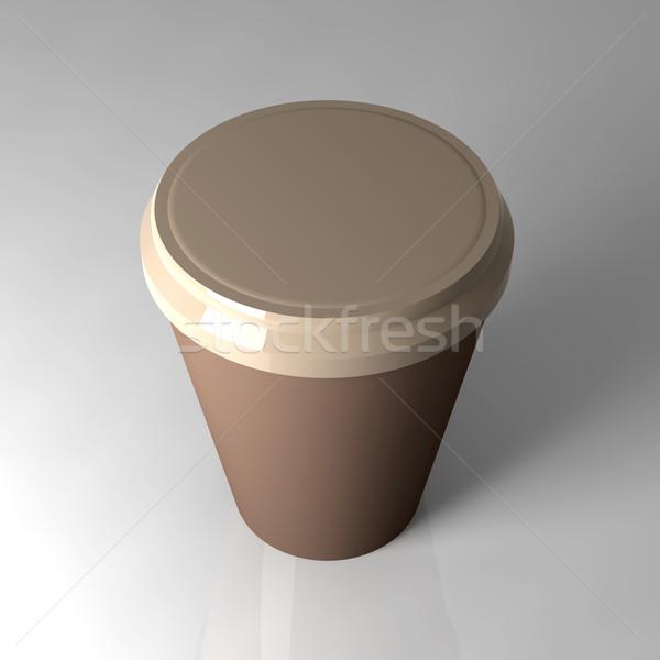 Tek kullanımlık kahve fincanı 3D render örnek gıda Stok fotoğraf © Spectral