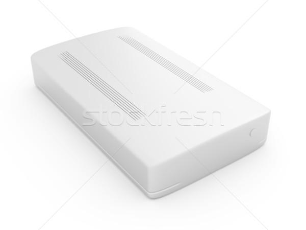 Disque dur 3D rendu illustration technologie métal Photo stock © Spectral