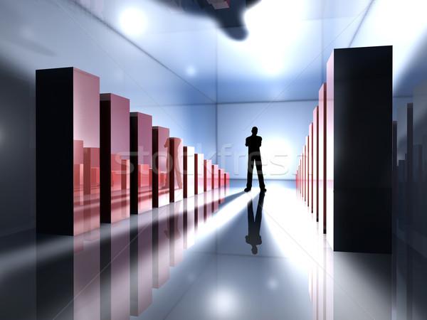Prestatie 3D gerenderd illustratie man permanente Stockfoto © Spectral