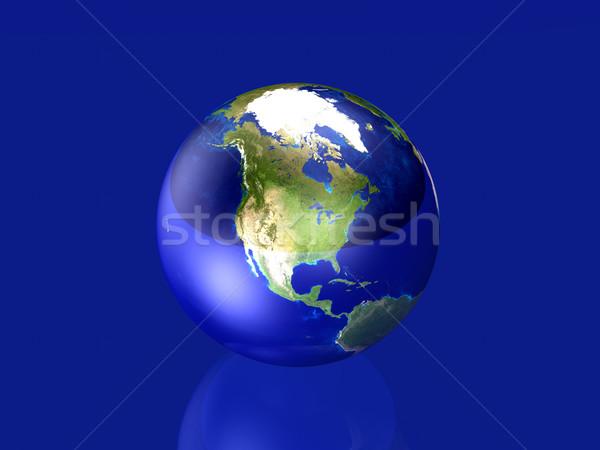 üvegszerű földgömb észak Amerika 3D renderelt Stock fotó © Spectral