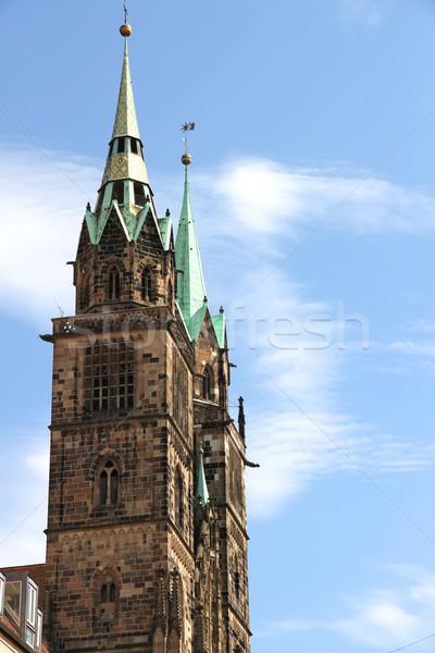Photo stock: Tour · cathédrale · saint · bâtiment · ville · porte