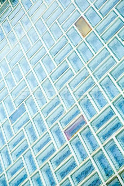 Vetro muro di mattoni architettura esterno texture costruzione Foto d'archivio © Spectral
