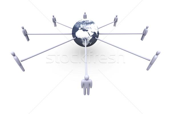 Сток-фото: глобальный · Европа · Африка · 3D · оказанный