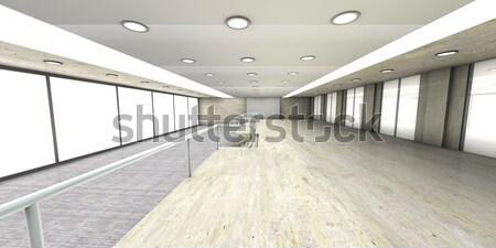üres iroda sziluett Sao Paulo Brazília építészeti Stock fotó © Spectral