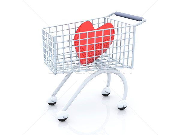 3D rendered Illustration. Shopping for Love. Stock photo © Spectral