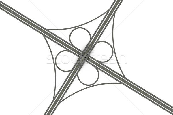 Karayolu 3D render örnek yalıtılmış beyaz Stok fotoğraf © Spectral
