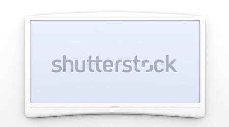 Hdtv 3D świadczonych ilustracja komputera domu Zdjęcia stock © Spectral