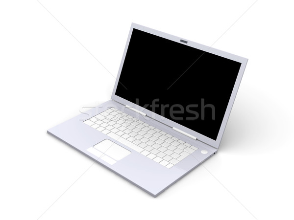 Laptop 3d illustration geïsoleerd witte toetsenbord monitor Stockfoto © Spectral