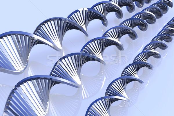 Metaal dna 3D gerenderd verdubbelen Stockfoto © Spectral