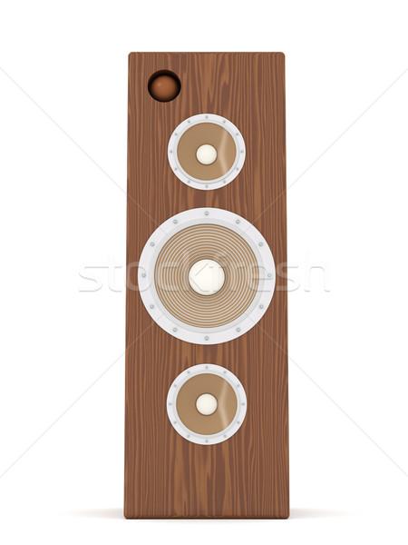 Mahagóni hangszóró 3d illusztráció izolált fehér digitális Stock fotó © Spectral
