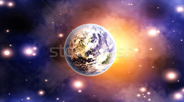 Dawn over the Globe Stock photo © Spectral