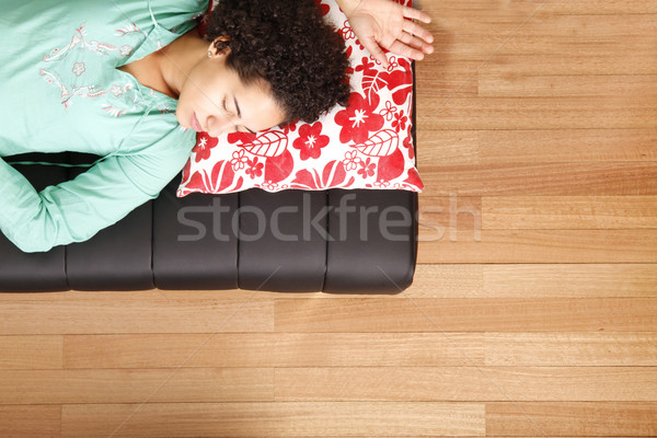Jung brazilian woman sleeping on the sofa	 Stock photo © Spectral