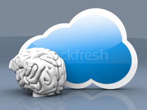 Foto d'archivio: Nube · intelligenza · 3D · reso · illustrazione