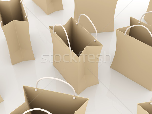 Stock photo: Paper shopping Bags