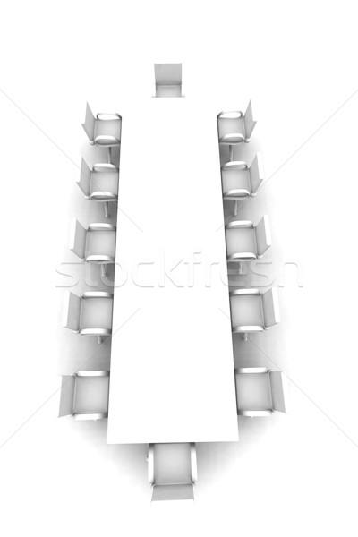 Biały sala konferencyjna górę widoku 3D świadczonych Zdjęcia stock © Spectral