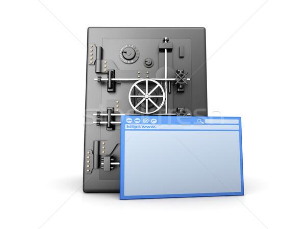 Seguro proteger 3D prestados ilustração isolado Foto stock © Spectral