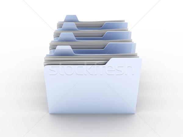 Klasörler 3D render örnek iş kâğıt Stok fotoğraf © Spectral