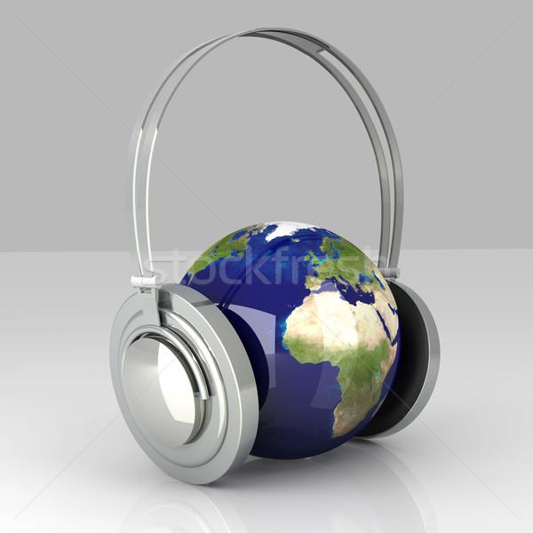 Ses Avrupa müzik kulaklık dünya dünya Stok fotoğraf © Spectral