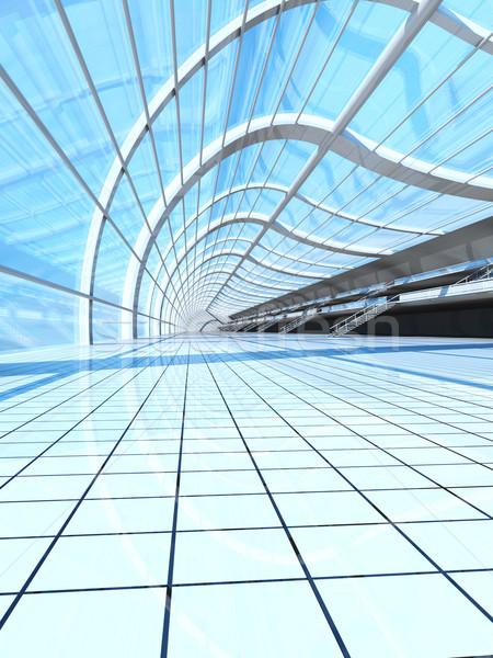 Hava istasyon 3D render örnek Bina Stok fotoğraf © Spectral