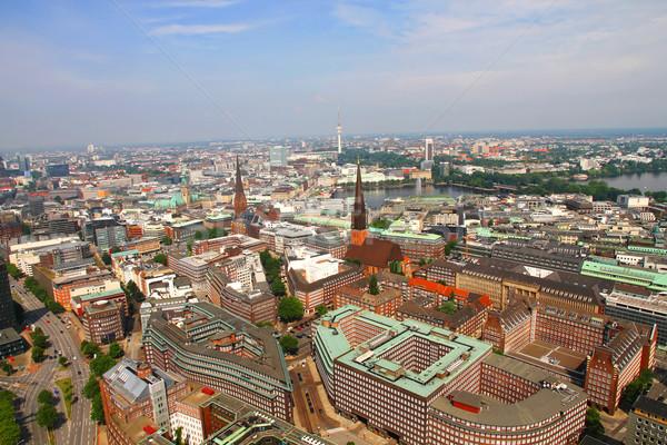 Hamburgo ciudad Alemania urbanas horizonte Foto stock © Spectral