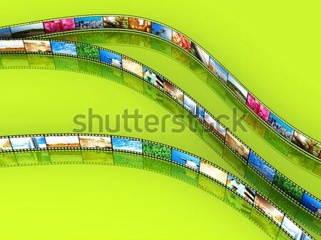 Película foto 3D prestados ilustración retro Foto stock © Spectral