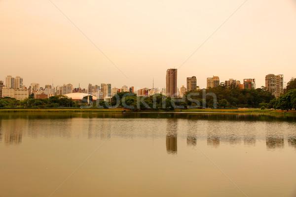 Este park Sao Paulo Brazília dél-amerika égbolt Stock fotó © Spectral