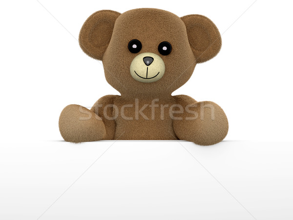 Teddy behind a wall	 Stock photo © Spectral