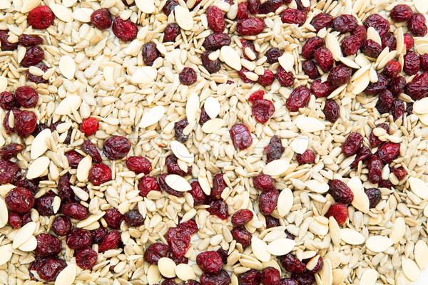 Bioélelmiszer organikus magok aszalt áfonya müzli Stock fotó © Spectral