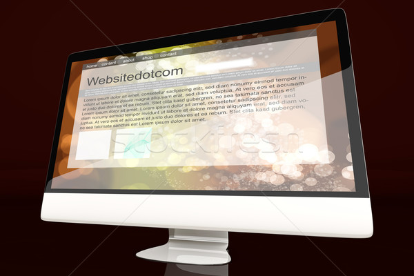 All in one Computer showing a generic website	 Stock photo © Spectral