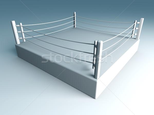 бокса кольца 3D оказанный иллюстрация подготовки Сток-фото © Spectral