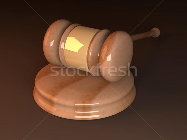 オークション ハンマー 3D レンダリング 実例 正義 ストックフォト © Spectral