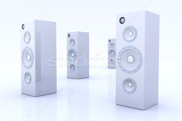 Speakers - Futuristic metal Stock photo © Spectral