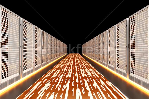 Adat sietség szerver autópálya 3D renderelt Stock fotó © Spectral