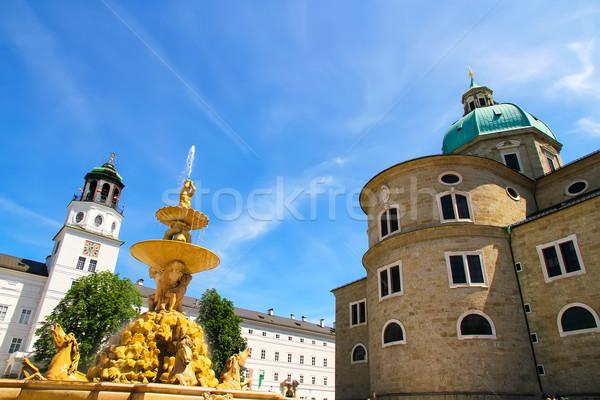 Szökőkút híres Ausztria Európa víz nyár Stock fotó © Spectral