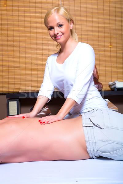 Schönen jungen Masseurin Massage männlich Stock foto © Spectral