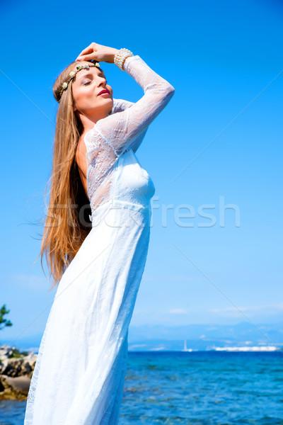 фея океана молодые красивая женщина Постоянный лет Сток-фото © Spectral