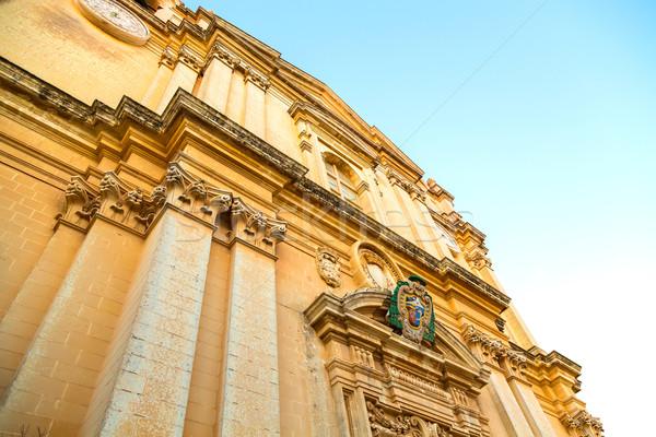 Arquitectura histórica Malta Europa ciudad luz viaje Foto stock © Spectral