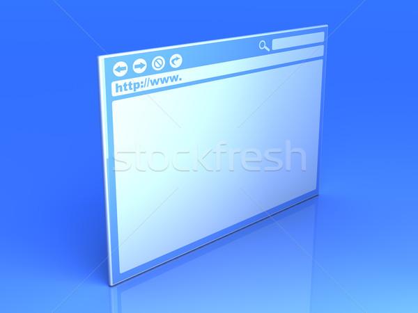 Browser venster 3D gerenderd illustratie internet Stockfoto © Spectral