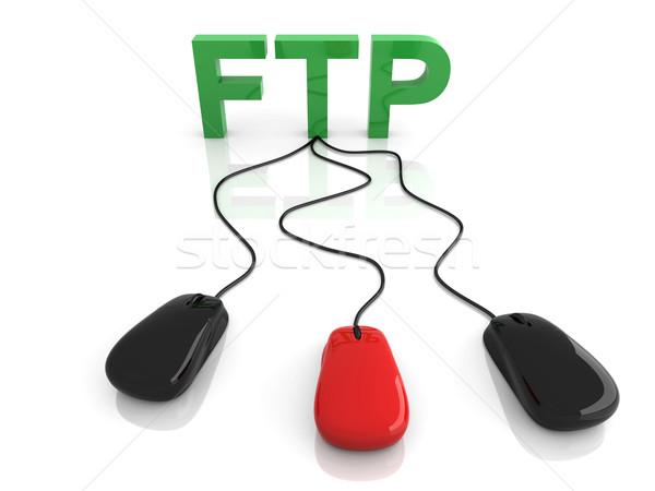 Ftp 3D rendu illustration connexion Photo stock © Spectral