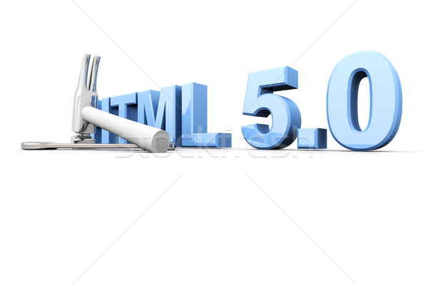 HTML 5.0 Tools Stock photo © Spectral