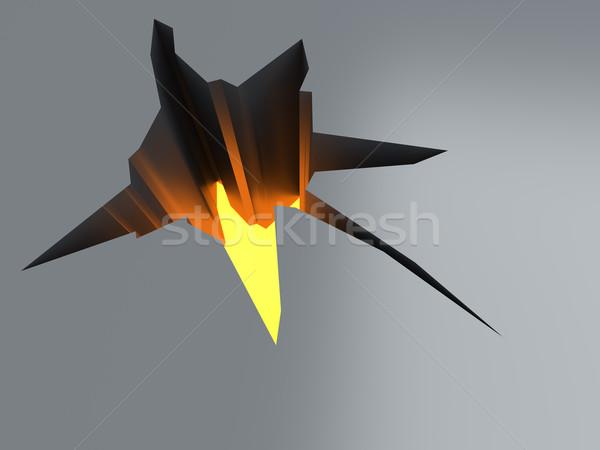 Spleet vloer 3D gerenderd illustratie brand Stockfoto © Spectral
